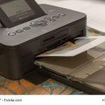 Pocketdrucker druckt Foto